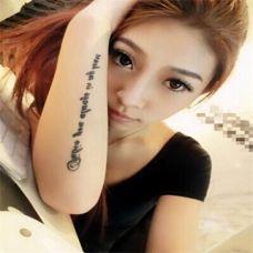 女生手臂英文纹身图案大全