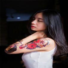 非主流女生手臂彩色纹身图案合集