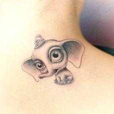 纹身小象图案个性小图片