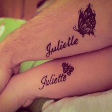 纹身情侣图字母精选素材