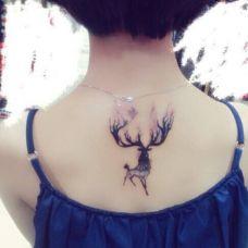 女生小鹿纹身小图案图片