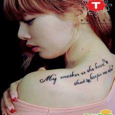 性感女郎背部纹身图案