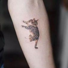 小猫纹身图片可爱图案