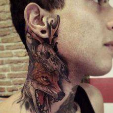 男士纹身脖子图案图片大全