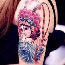 花旦纹身图片个性图案