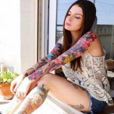 潮流性感美女纹身图片