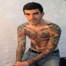 欧美熟男艺术纹身图片