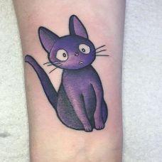 纹身猫图案大全个性图片