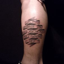 纹身图片男生小腿精选大全