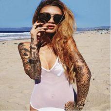 性感美女手臂艺术纹身图片