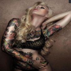 性感黑白纹身美女高清图集