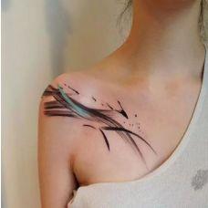 锁骨创意纹身唯美图案