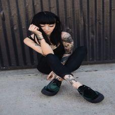 性感黑色内衣美女纹身图集
