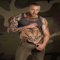 个性霸气男生纹身图片