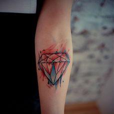 钻石纹身图案手上图片合辑