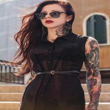 潮流时尚美女纹身图片