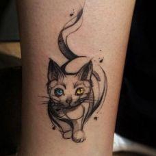 猫的纹身图案大全个性图片