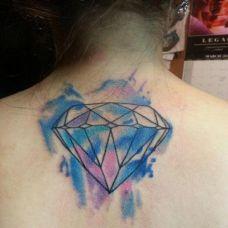 钻石后背纹身图案图片