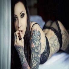 性感女神时尚纹身图片