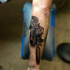 兵器纹身图案个性图片