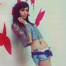 性感街头美女纹身图集