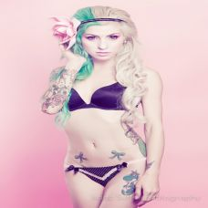 Lomo模特时尚纹身图集