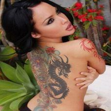 美女背部纹身图集