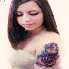 欧美气质美女手臂纹身图集