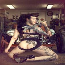 欧美霸气美女纹身图片