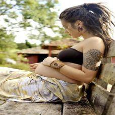 欧美孕妇时尚纹身图片