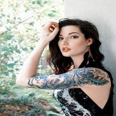 欧美美女手臂纹身图片