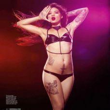 欧美红唇美女纹身图集