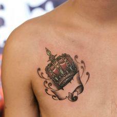胸口小纹身图片男生大全