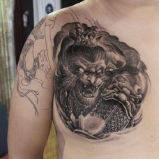 霸气小猴子图腾纹身图片