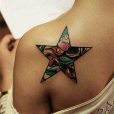 五角星纹身图片图案合辑