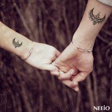 情侣手部简单可爱纹身图案