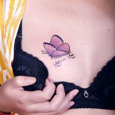 适合女人胸口的纹身图片