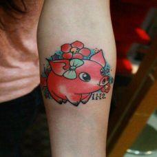 女士胳膊纹身图案图片