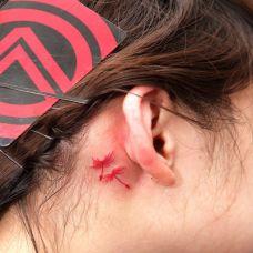 耳朵蒲公英纹身图案女生图片