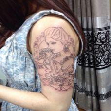 雕刻纹身图案图片大全