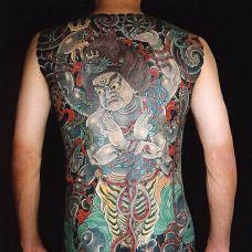 满背日式浮世绘纹身图案