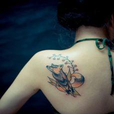 女纹身图案大全图片肩部
