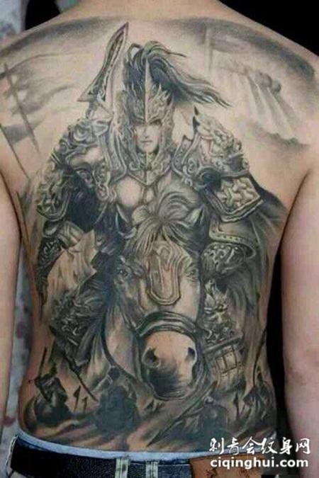 这张大将之风,满背赵子龙纹身图案,您可能还会喜欢虎威将军,大
