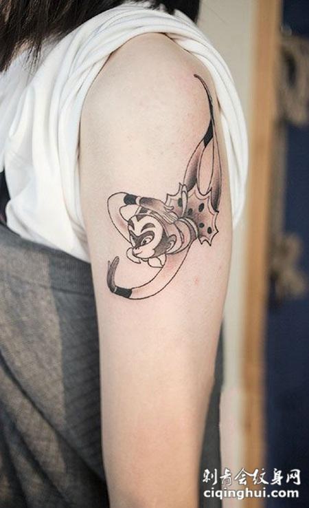齐天大圣,手臂卡通斗战神佛纹身图案图片
