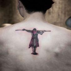 落寞背影,后背斗战胜佛纹身图案