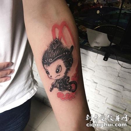 首页 纹身图案 神明 斗战胜佛  相似的图片 男人肩部个性斗战胜佛高清