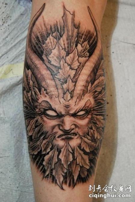 小臂恶魔纹身图案图片