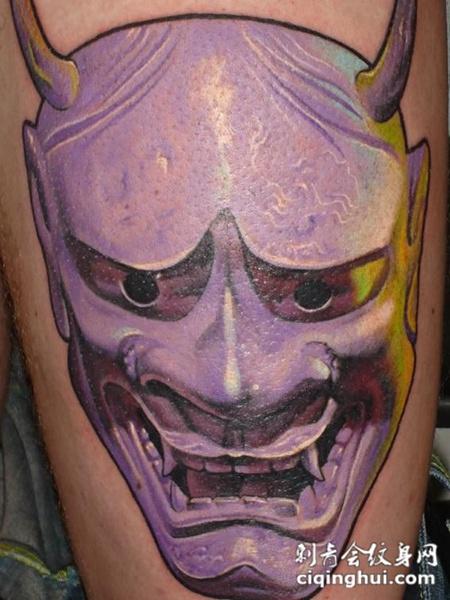 大臂上的般若纹身图案