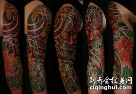 您可能还会喜欢大臂上的龙头般若纹身图案或者后背上的般若纹身图图片