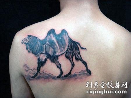 背部骆驼纹身